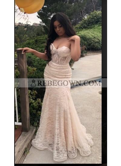 2021 Ivory Sweetheart Mermaid  Prom Dresses