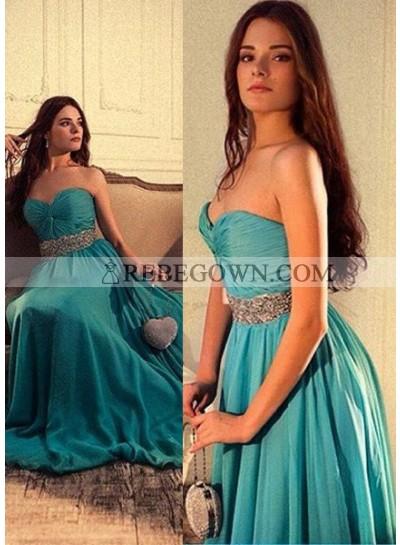 Ruching Sweetheart Chiffon Prom Dresses