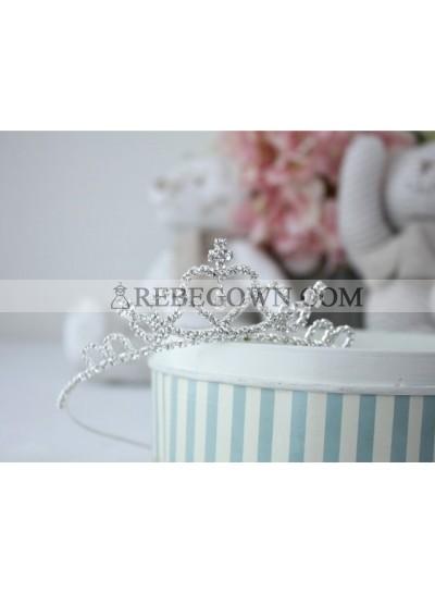 Fashion Girl's Shiny Crown First Holy Communion Crown Cheap Girl's Headwear