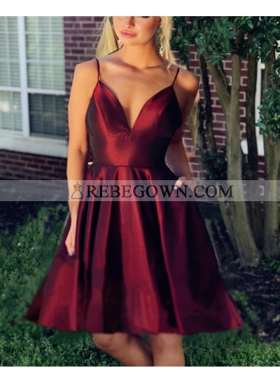 Cheap A Line Knee Length Blushing Pink Sweetheart Short Backless Prom Dresses