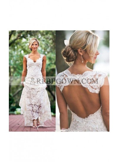 2021 Classic Sheath Sweetheart Lace Backless Outdoor Wedding Dresses