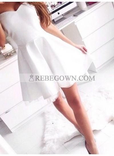 Sweetheart Tulle Sleeveless A-Line Cut Short Mini Homecoming Dresses