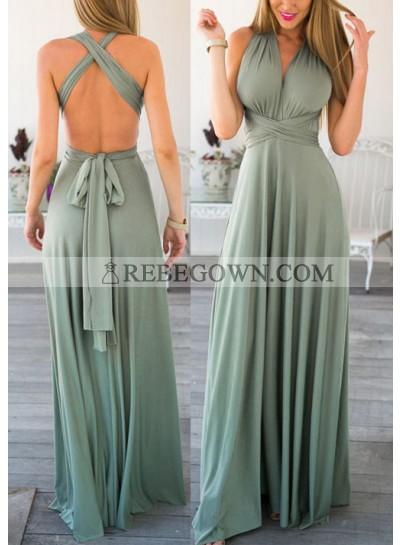 2021 Siren Backless Halter Prom Dresses