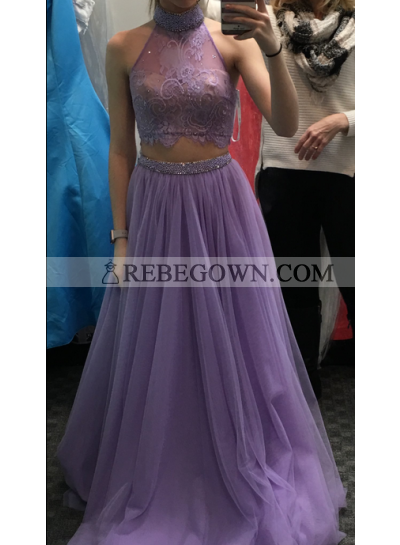 New Arrival Princess/A-Line Tulle Two Pieces Prom Dresses
