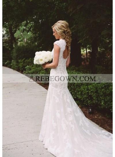 Mermaid  Backless Lace Wedding Dresses 2020