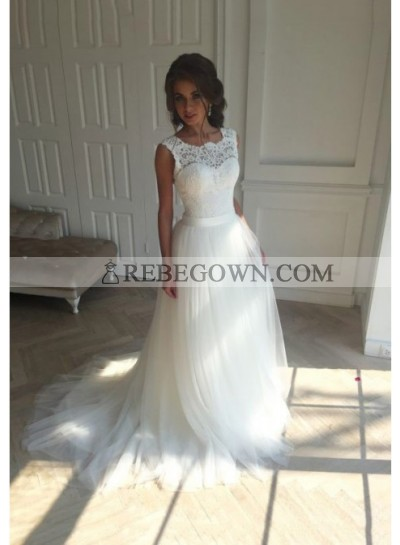 A Line Tulle Lace 2021 Wedding Dresses Cheap