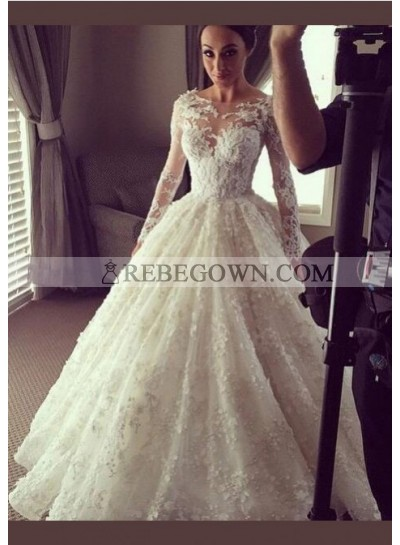 Ball Gown Long Sleeves 2021 Lace wedding Dresses