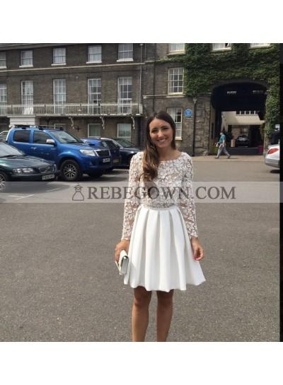 Long Sleeves Short Prom Dresses