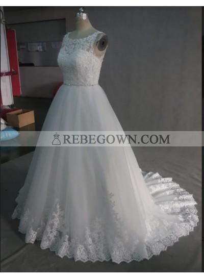 2021 A Line Lace Wedding Dresses