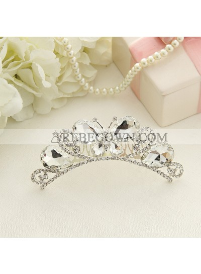 New Arrival Girl's Butterfly Crown First Holy Communion Crown Cheap Girl's Headwear