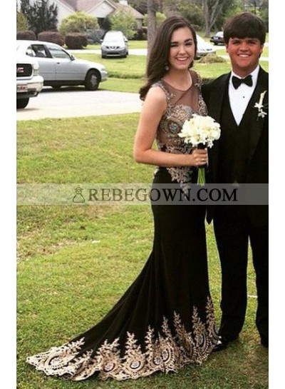 2020 Junoesque Black Cheap Prom Dresses Long Floor length Mermaid Stretch Satin