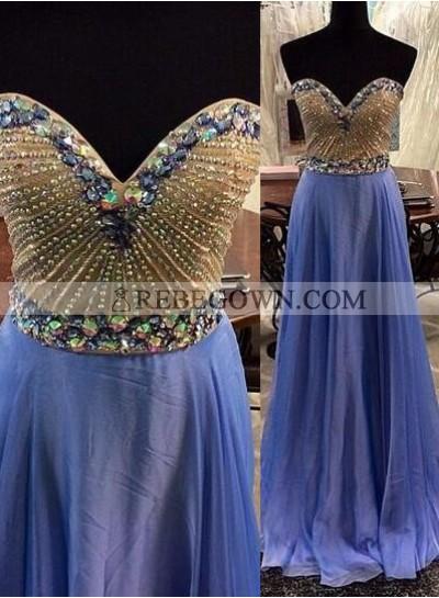 rebe gown 2020 Blue A-Line Sweetheart Sleeveless Long Floor length Prom Dresses