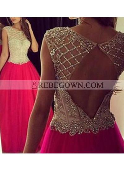 2020 Gorgeous Red Long Floor length A-Line Long Floor length Chiffon Prom Dresses