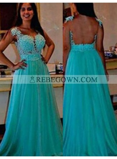 rebe gown 2021 Blue Column/Sheath Straps Sleeveless Natural  Long Floor length Chiffon Prom Dresses