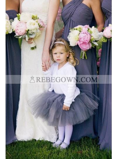 2020 Cheap A Line Light Slate Gray One Shoulder Chiffon Bridesmaid Dresses / Gowns