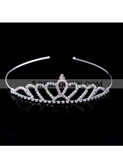 Lovely Girl's Shiny Princess Crown First Holy Communion Crown Cheap Girl's Headwear
