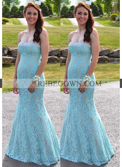 Backless Sweetheart Mermaid Lace Prom Dresses