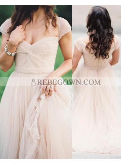 2020 Unique White Ruching Sweetheart A-Line Chiffon Prom Dresses