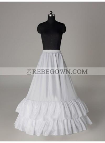2021 Wedding Petticoats Nice Nylon A-Line 1 Tier Floor Length Slip Style/Wedding