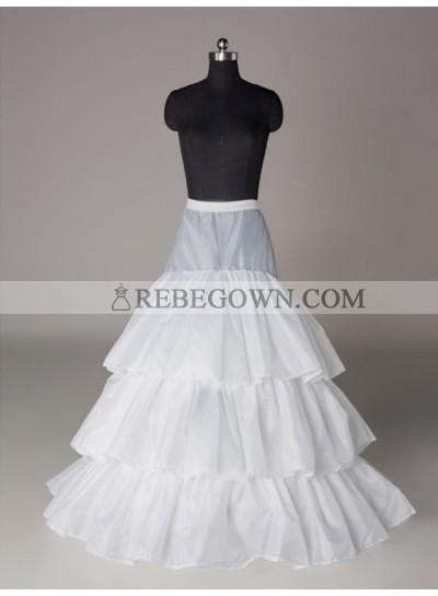 2021 Wedding Petticoats Nylon A-Line 3 Tier Floor Length Slip Style/Wedding