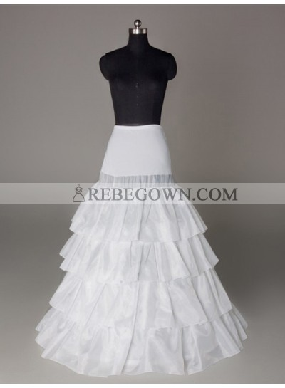 2021 Wedding Petticoats Nylon A-Line 4 Tier Floor Length Slip Style/Wedding