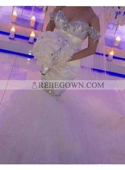 2021 New Arrival Mermaid  Sweetheart Off The Shoulder Wedding Dresses