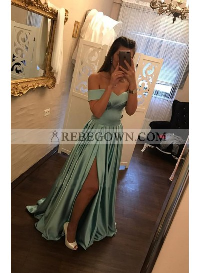 Cheap A-Line Off The Shoulder 2020 Sweetheart Prom Dresses
