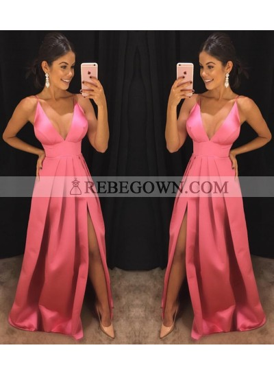 Cheap A-Line Sweetheart Satin 2020 Prom Dresses