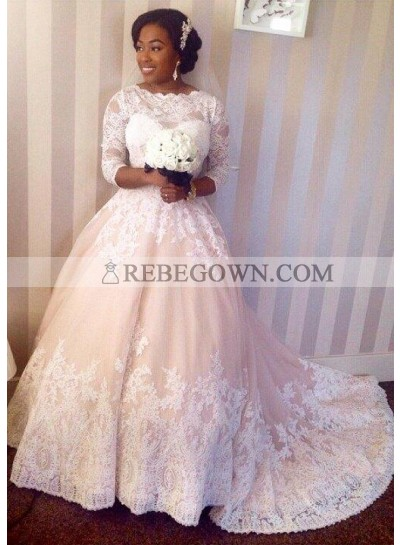 2020 Cheap A Line Court Train Sweetheart Lace Wedding Dresses