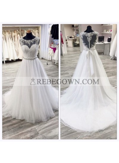 Cheap A Line Organza Wedding Dresses With Appliques