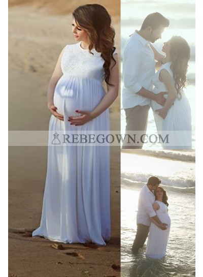 Cheap Chiffon A Line Maternity Beach Wedding Dresses