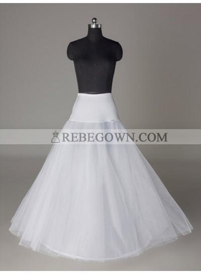 2021 Wedding Petticoats Tulle Netting A-Line 2 Tier Floor Length Slip Style/Wedding