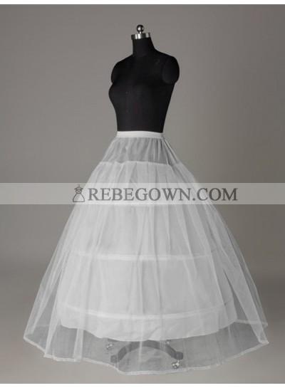 2021 Wedding Petticoats Tulle Netting Ball-Gown 2 Tier Floor Length Slip Style/Wedding