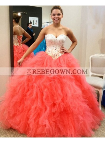 Prom Dresses Sweetheart Beading Ball Gown Tulle