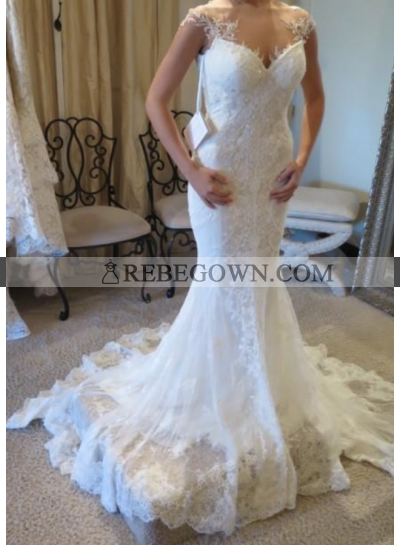 Mermaid  Sweetheart Backless 2021 Lace Wedding Dresses